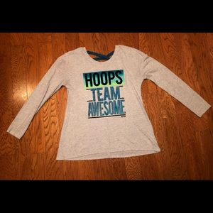 Justice hoops long sleeve shirt. Size 10 plus